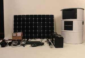 Solar Charging Can contents 2