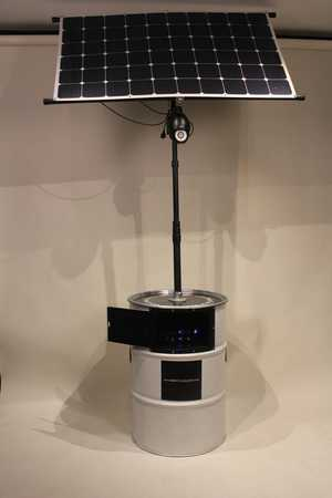 Solar Charging Can fully assembled