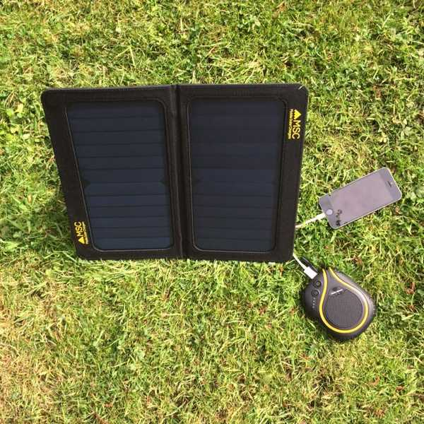 MSC 13W SunPower Folding Solar Panel 5v dual USB