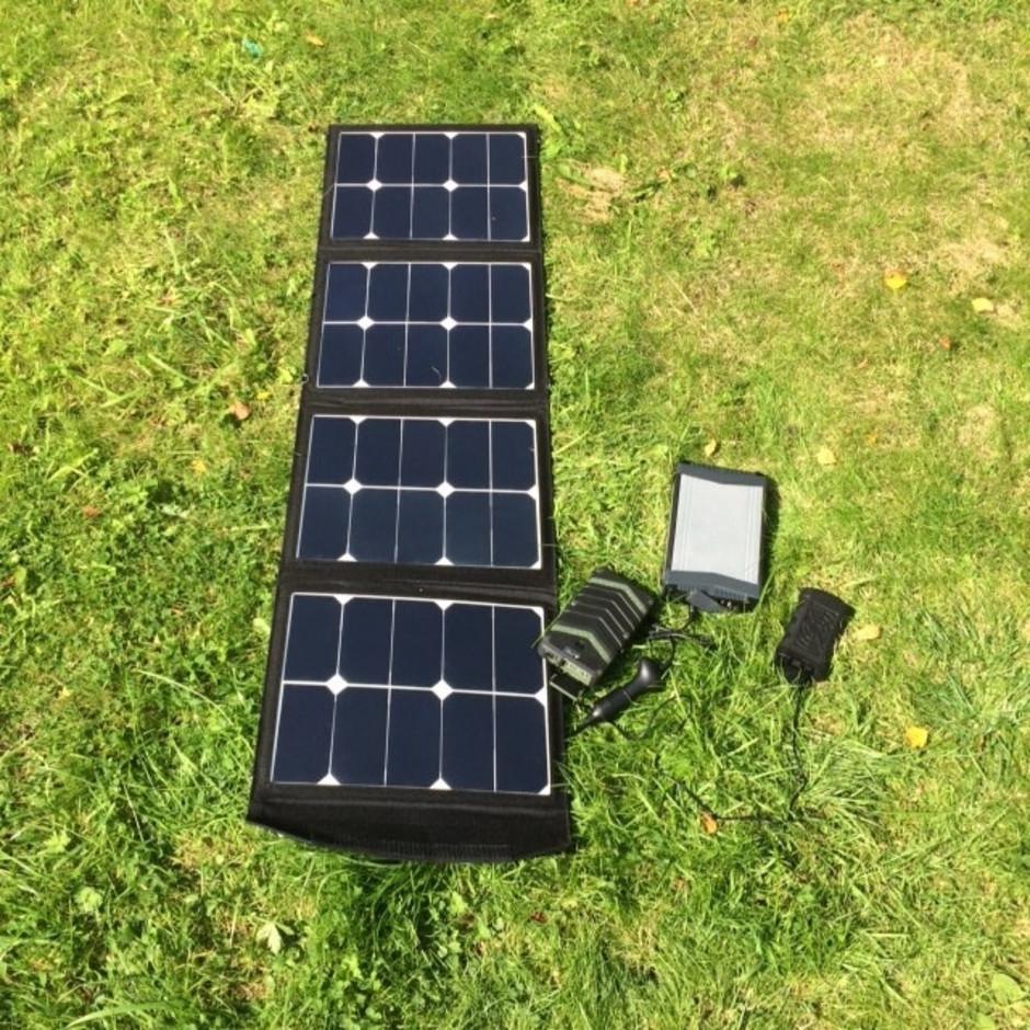 MSC SunPower Foldable Solar Panel Charger | 5v | 12v